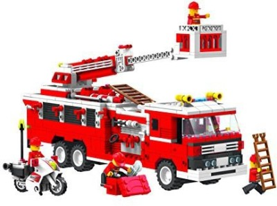 Top Race Fire Truck Vehicle Building Set (576 Pieces) With Fire