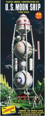 Lindberg USA 1/96 Scale U.S. Moon Ship Plastic Model Kit