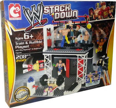 WWE Stack Down - Train & Rumble Playset