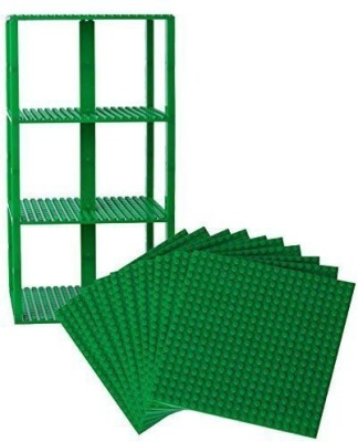 Strictly Briks Premium Green Stackable Base Plates 10 Pack 6