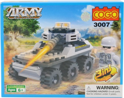 Mera Toy Shop Army Tank Constructions Blocks 90pc