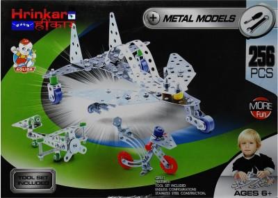 Hrinkar Aolida Metal Models Jet Plane Construction Set 3D Stainless Steel Puzzle 256 Pcs