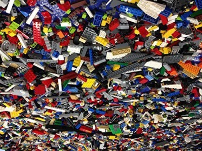 Alexander James 2 Pounds Bulk Lego Bricks - Random Selection of Vintage Lego Bricks