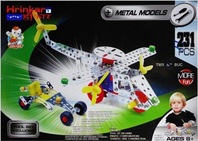 Hrinkar Aolida Metal Models Helicopter Construction Set 3D Stainless Steel Puzzle 231 Pcs