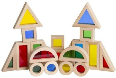 Guidecraft Jr. Rainbow Block Set (20 Piece)