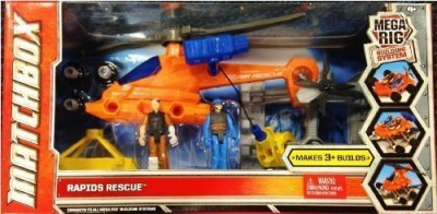 Matchbox Mega Rig Building System Rapids Rescue With Helicopter2
