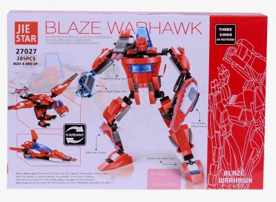 Planet of Toys Blaze Warhawk Buildin Blocks (285 Pcs)