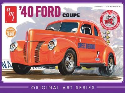 AMT USA 1/25 Scale Orange ,40 Ford Coupe Plastic Model Kit
