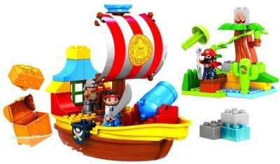 Building Mart Pirate Treasure Hunt Ship Building Block Set - 60 pieces