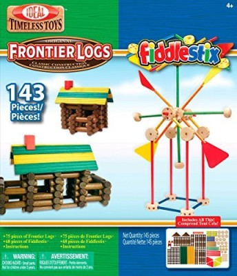 Ideal Frontier Logs And Fiddlestix Box 143Piece Classic Wood