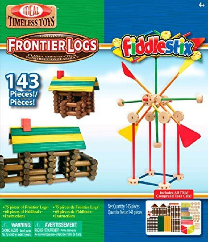 Ideal Frontier Logs And Fiddlestix Box 143Piece Classic Wood(Multicolor)