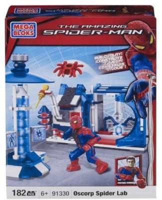 Mega Bloks The Amazing Spiderman Oscorp Spider Lab