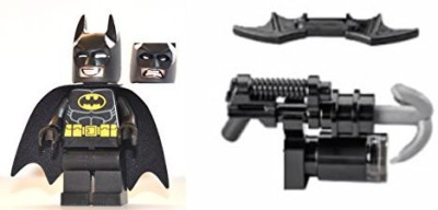 Lego The Movie Batman Mini With Dualsided Face (Smiling(Black)