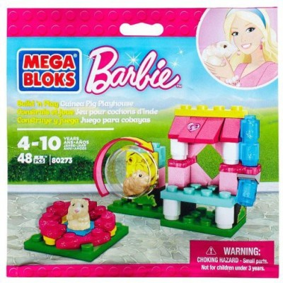 Barbie Guinea Pig Playhouse 48 Pieces Mega Bloks