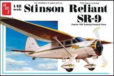 AMT USA 1/48 Scale Stinson Reliant SR-9 Airplane Plastic Model Kit