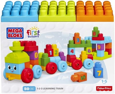 Mega Bloks Builders 123 Learning Train Multi Color