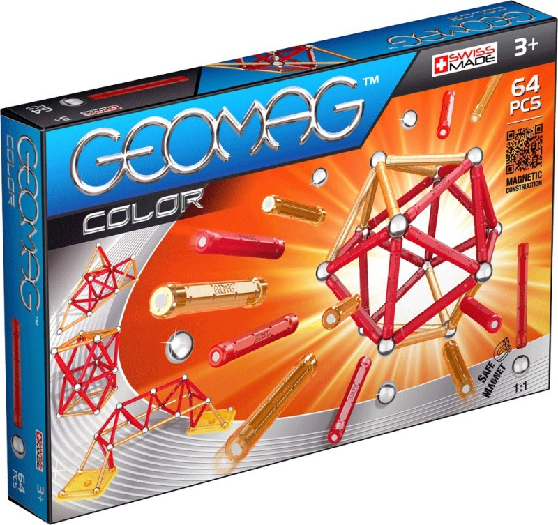 Geomag Color 64 Pieces(Red, Orange)