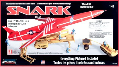 Lindberg USA 1:48 Scale Snark Intercontinental Guided Missile Model Kit