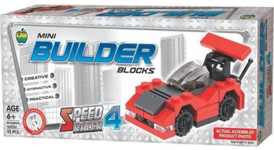 Lotus Applefun Builder Blocks Speed Racer 4(Multicolor)