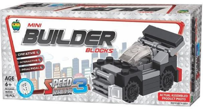 Applefun Mini Builder Blocks - SRCR - 3(Multicolor)