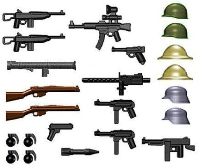 BrickArms Weapon Packs Brickarms World War Ii Weapon Pack (24 Pieces) Lego