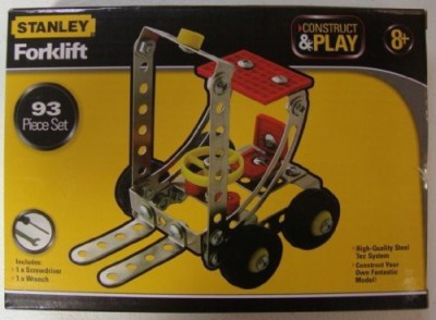 New World Toys Stanley Construct And Play 93 Piece Set Forklift