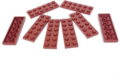 Lego Parts Plate 2 X 6 (Pack Of 8 Reddish Brown)