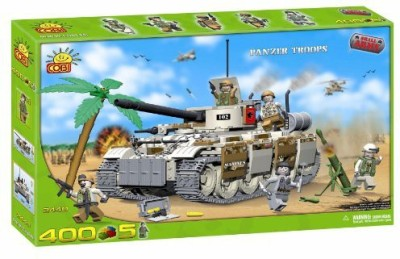 COBI New Small Army Panzer Tank With Troops 400 Piece Building