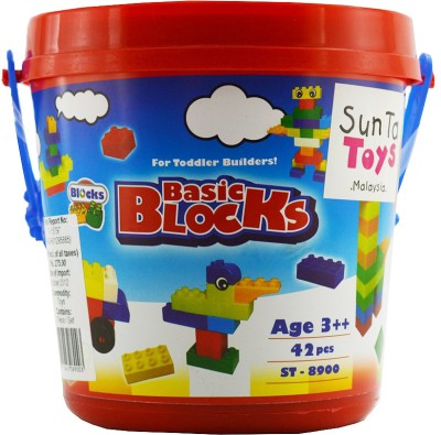 Sunta Basic Blocks 42 Pieces Block Building Game for Kids