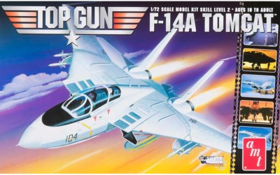 AMT USA 1/72 Scale Top Gun F-14A Tomcat Plastic Model Kit(Multicolor)