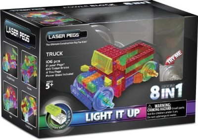 Laser Pegs 8In1 Truck Building Set