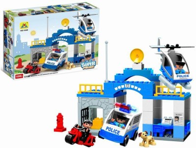 Building Mart Super Police Station Block Building Set - 51 Pieces