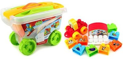 Velocity Toys happy rolling cart interlocking building playset bright vivid