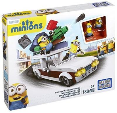 Mega Bloks Minions Station Wagon Getaway(Multicolor)