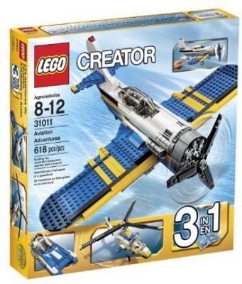 Lego Creator 31011 Aviation Adventure618 Pcs