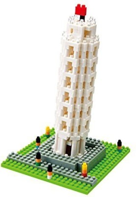 Kawada Nano The Leaning Tower Of Pisa Building Kit