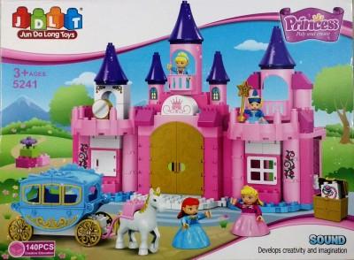 Jaibros Jdlt Princess Play and Create 140 Pcs Block Construction Set
