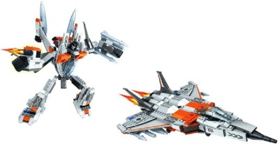 Funblox 2 in 1 Forming A Robot or A Fighter Plane