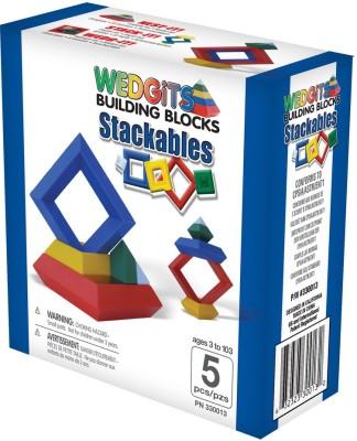 Wedgits Stackables Contruction Toy 5-Pcs Set