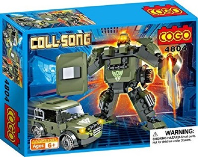 Saffire Coll Song Transformer Blocks - Mech Warrior and Jeep(Multicolor)