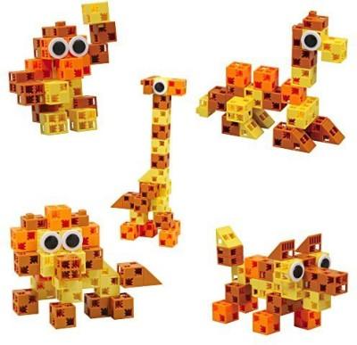 Click-A-Brick Animal Kingdom 30Pc Educationalbuilding Set Best Gift
