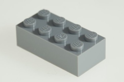 Factory Fresh Bulk Bricks 200X Lego Medium Stone Grey (Light Grey) 2X4 Bricks Super
