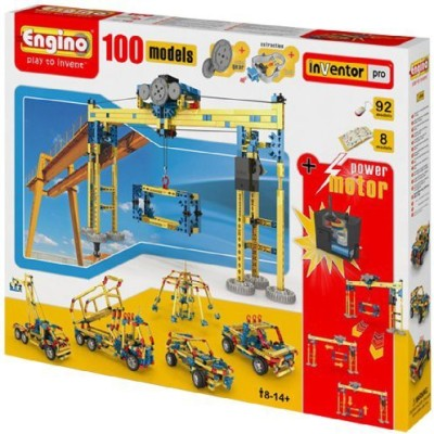 Engino 100 Model Construction Set With 2 Rc Motors And Gears