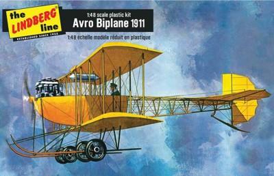Lindberg USA 1/48 Scale Avro Biplane 1911 Plastic Model Kit