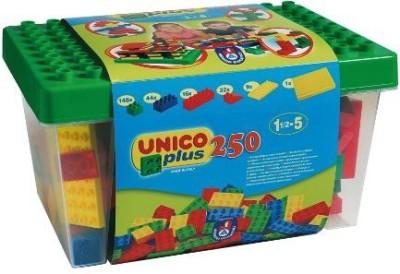 Unico 250 Pcs Building Bricks Duplo Compatible In A Bucket