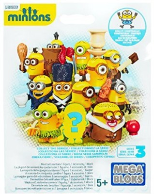Mega Bloks Minions Blind Pack Series Iii Buildable (Styles May Vary)(Yellow)