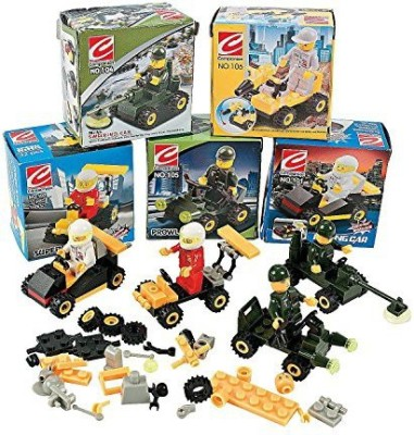 Top Bright 12 Mini BUILDING Block Vehicle Sets/RACE Car/JEEP/Construction, etc/Party FAVOR/STOCKING STUFFERS/Motor Skills