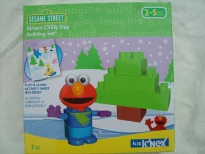 Sesame Street Kid K,Nex Elmo,S Chilly Day Building Set