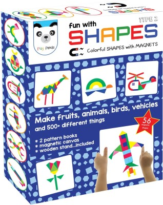 Play Panda Fun with Shapes : Type 2 (58 Colorful shapes with magnets)
