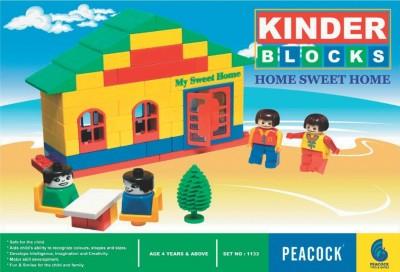 Peacock Kinder Block Sweet Home